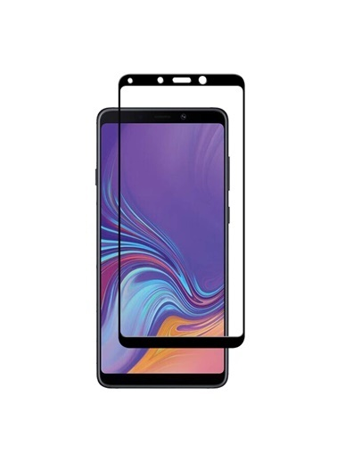 Microsonic Samsung Galaxy A9 2018 Tam Kaplayan Temperli Cam Ekran Koruyucu  Siyah